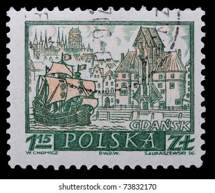 Poland - CIRCA 1965: A stamp is printed in Poland, Gdansk, CIRCA 1965.