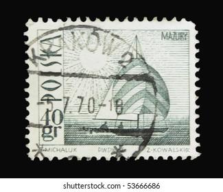 POLAND - CIRCA 1966: a stamp printed in Poland showing ship, circa 1966