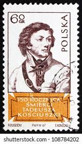 POLAND - CIRCA 1967: a stamp printed in the Poland shows Tadeusz Kosciusko, Polish Patriot and General in the American Revolution, circa 1967