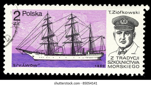 POLAND - CIRCA 1980: A stamp printed in Poland shows image of T. Ziolkowski circa 1980