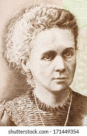 POLAND - CIRCA 2011: Marie Curie (1867-1934) on 20 Zlotych 2011 Banknote from Poland. French-Polish physicist and chemist famous for her pioneering research on radioactivity.