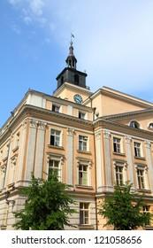Poland - city view in Kalisz. Greater Poland province (Wielkopolska). City Hall at the main square (Rynek).