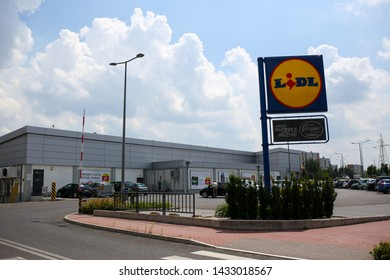 POLAND, CZESTOCHOWA - 20 June 2019: Exterior view of the LIDL supermarket. LIDL is a German discount chain founded in 1973 by German merchant Dieter Schwarz.