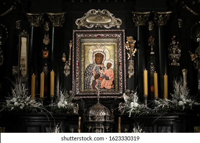 Poland, Czestochowa - 22 January 2020: Jasna Gora Monastery: the Wonderful Image of the Black Madonna of Czestochowa (Our Lady of Czestochowa)
