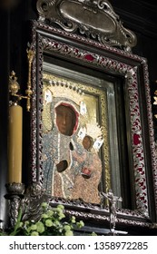 Poland, Czestochowa, Jasna Gora Monastery (Clarus Mons) - 28 July 2017: the first unveiling of the Wonderful Image of the Black Madonna of Czestochowa/Our Lady of Czestochowa with new crowns