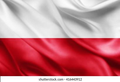 Poland  flag of silk