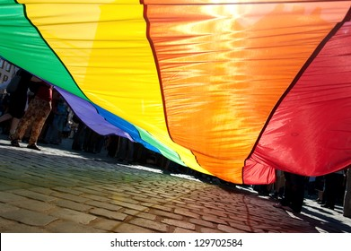 Poland, Gay Pride, Rainbow banner