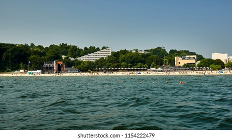 Poland, Gdynia, a port city on the Baltic Sea, a view of the beach