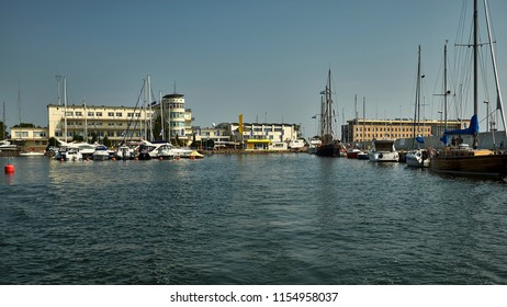 Poland, Gdynia, a port city on the Baltic Sea, a view of the marina
