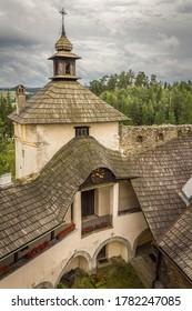 Poland. Lesser Poland Voivodeship. Dunajec Castle, Niedzica 12.08.2014 - a medieval fortress located on the right bank of the Czorsztyn Reservoir in the village of Niedzica-Zamek.