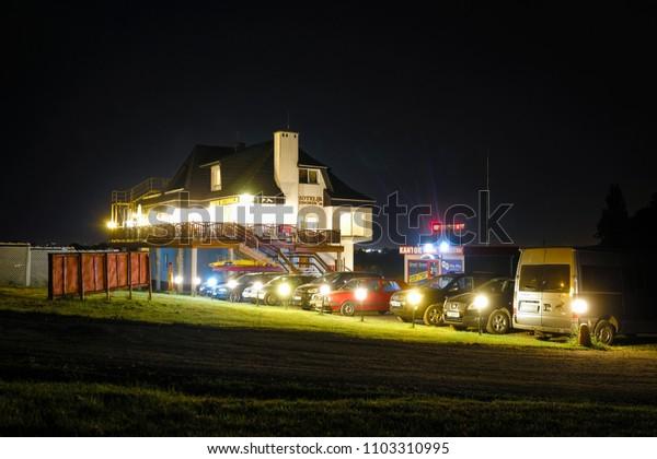 Poland, May, 31, 2018: night hotel in Poland