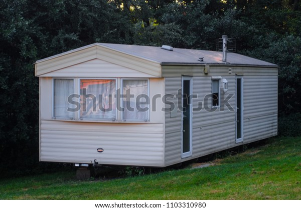 Poland, May, 31, 2018: small tourist house in Poland