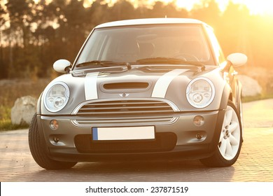 Poland, November 05 2014: Mini Cooper S on the parking lot