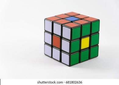 POLAND, Radom 7/21/2017 rubik cube.