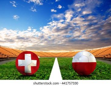 Poland and Switzerland football