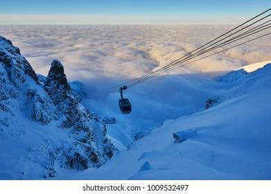 Poland, Tatra Mountains, view from Kasprowy Wierch