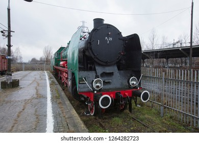 Poland, Warsaw, Europe, December 2018, Polish Railway Museum at the former Glowna Station