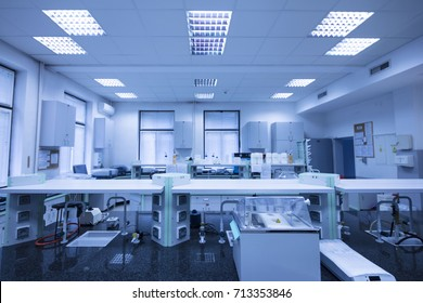 POLAND, WROCLAW - OCTOBER 1, 2016: Modern laboratory in Wroclaw.