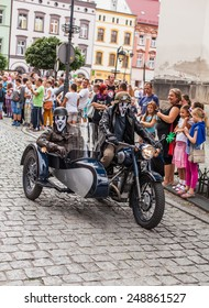 POLAND, ZABKOWICE SLASKIE  - AUGUST 30, 2014: town center frankenstein celebration day