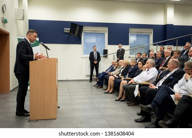 POLAND, ZABRZE 07 June 2017: President of Poland Andrzej Duda takes part in the ceremony on the occasion of the XXX-anniversary of the Invasive Treatment of Heart Attack