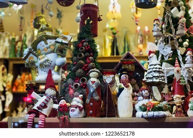 POLAND, ZAKOPANE - JANUARY 03, 2015: Souvenirs  in a shop window in Zakopane. Town known as the winter capital of Poland. It is a popular destination for tourism.