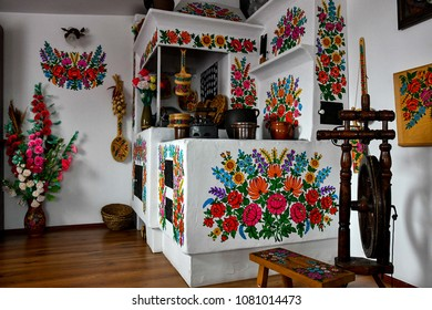 Poland Zalipie village flower paint small and cute floral village flower church