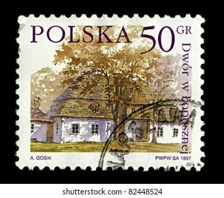 POLAND-CIRCA 1997:A stamp printed in POLAND shows image of Lopuszna  is a village in the administrative district of Gmina Nowy Targ, within Nowy Targ County,Poland Voivodeship, in  Poland, circa 1997.