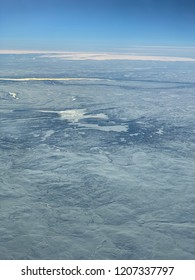 Polar artic circle from the cockpit
