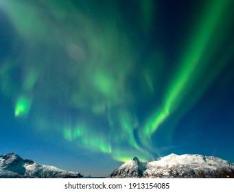 The polar lights in Norway. Tromso