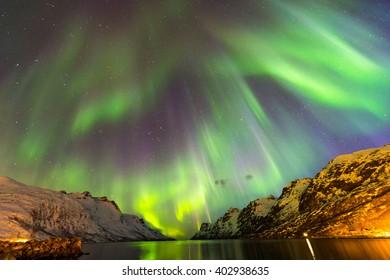 The polar lights in Norway,Tromso