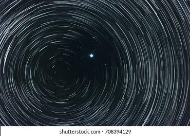 Polar star (Pole star) and north celestial pole