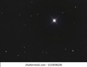 Polaris or Alpha Ursae Minoris or the pole star is the brightest star in the constellation Ursa Minoris