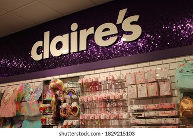Polaris, Ohio October 4, 2020 Claire's Retail Accesory Store for young girls and women.