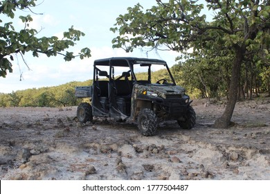 a polaris ranger in a beautiful place