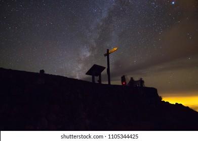 Polaris sign at mountain, La Palma Island