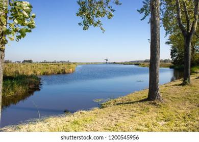 Polder landscape in Holland Europe