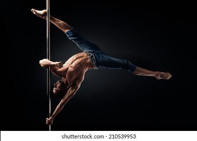 Pole Dance Male Athlete, aesha split