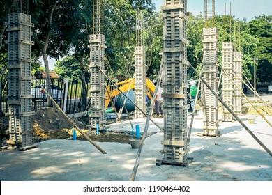 Concrete Pole with Steel Platform Images, Stock Photos