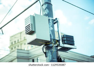 Pole-mounted distribution transformer for residential and light commercial service. Pole-mounted Distribution Transformer, Pole-mounted distribution transformer for residential commercial service.
