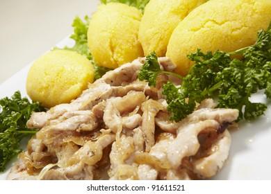 polenta with chicken