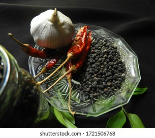 """""""Polgahawela,Sri Lanka-April 29 of 2020:Black pepper which is a traditional medicine and the world most traded spice used in Sri lankan cooking"""""""