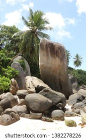 Police Bay at Mahé Island, Seychelles.