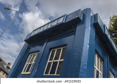 Police call box in Glasgow Scotland, Tardis from Doctor Who.