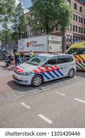 Police Car And Ambulance At Amsterdam East The Netherlands 2018