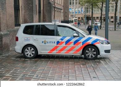 Police Car At The Binnenhof Den Haag The Netherlands 2018
