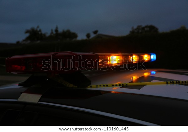 Police Car Light Bar Light Bar Stock Photo Edit Now 1101601445