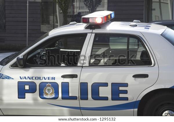 police car in vancouver