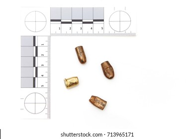 Police evidence - bullets removed from victim and place of crime