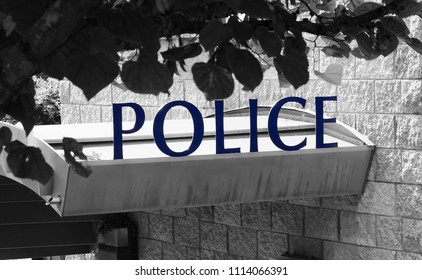Police headquarter's sign