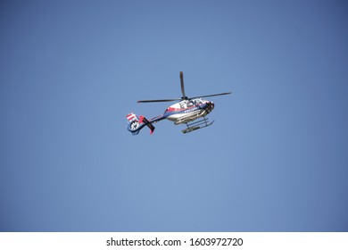 police helicopter in the air
